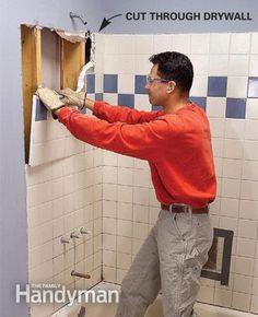 Plumb & Install a Shower Base