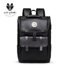 b1164fdf4b3c Lielang рюкзак Для мужчин искусственная кожа школьный рюкзак сумка для  Колледж простой Дизайн Для мужчин Повседневное Daypacks путешествия  Рюкзак...(China)