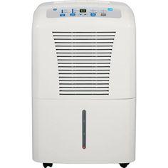 GE 70-Pint Dehumidifier for Basements w/Drain, White,  ADEW70LR