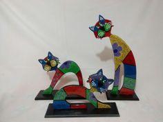 gatos pintados en puntillismo - Buscar con Google
