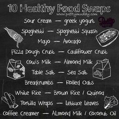10 #Healthy Food Swaps