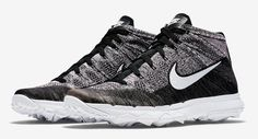 NIKE FLYKNIT CHUKKA GOLF SHOES BLACK | Discount Prices for Golf Equipment