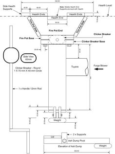 Imagini pentru diagram of a coal forge Forge Blower, Coal Forge, Forging Knives, Fire Pots, Blacksmith Forge, Metal Fab, Blacksmith Projects, Tool Shop, Metal Tools