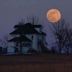 a February moon from years past – was taken by Dan Bush.