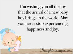 45 Congratulation Wishes & Messages for New Born Baby Boy - 2 Congratulations For Baby Boy, Wishes For Baby Boy, Congratulations Quotes, Baby Messages, Wishes Messages, New Baby Quotes, Baby Boy Themes, Quotes About Motherhood, Baby Girl Newborn