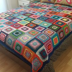 Ravelry: Project Gallery for Colourful granny square blanket pattern by Kirsten Ballering