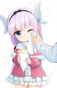 "This chibi is based off the anime ""Kobayashi-san Chi no Maid Dragon."" This anime chibi picture is of Kanna Kamui. Anime Neko, Fanarts Anime, Manga Anime, Hot Anime, Miss Kobayashi's Dragon Maid, Dragon Girl, Loli Kawaii, Kawaii Anime Girl, Anime Girls"