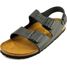 Complete any chic ansemble when you add these Birkenstock 'Milano' leather sandals to your closet. Number one in its class is Birkenstock. Highly desireable Leather material and remarkably tasteful Mi