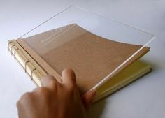 Perspex cover + engraving and special binding
