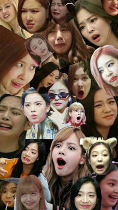 This is BlackPink meme faces Blackpink Memes, Kpop Memes, Meme Faces, Funny Faces, Kpop Black Pink, Blackpink Video, Blackpink Funny, Lisa Blackpink Wallpaper, Blackpink Photos