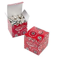 Red Bandanna Gift Boxes - OrientalTrading.com