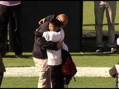[VIDEO] U.S. Marine Surprises Sons at East Carolina University Football Game  |  SSgt Joshua Ricafrente returned home from Afghanistan early to surprise his kids at the East Carolina football game on Nov 3rd. Ricafrente hadn't seen his kids since deploying in May. His video message was played before his two sons, Noah and Elijah participated in the halftime challenge. Ricafrente surprised them with an unforgettable hug!