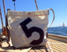 Sailcloth Bag / Sail Bag/ from RoughElement Segel Outfit, Nautical Fashion, Nautical Style, Sailing Outfit, Travel Tote, Bag Making, Gym Bag, Upcycle, Creations