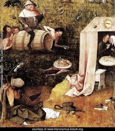 Allegory of Gluttony and Lust - Hieronymous Bosch Reproduction