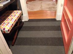 carpet tiles from Flor - with a little modification
