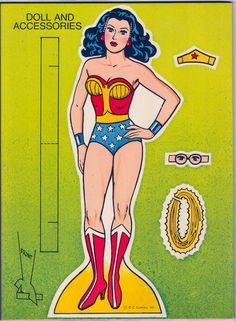 Wonder Woman Paper Dolls | The book comes complete with a Wonder Woman paper doll to cut out and ...: