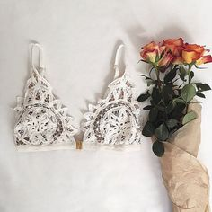 Fresh flowers and the Annabella Bralette, Good Morning.  #ForLoveAndLemons #DownToYourSKIVVIES