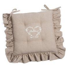 Il cuscino per sedia della Collezione Fiocchi Beige in versione a ...
