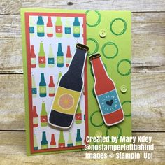 Bubble Over Bundle. Card created by Mary Kiley. #stampingtoshare