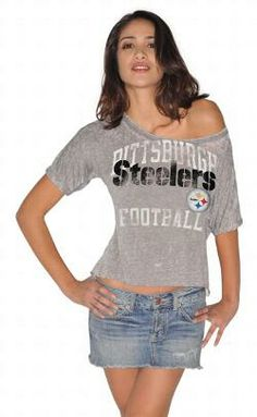 Pittsburgh Steelers Women's Black Burnout Dolman Top - Official ...