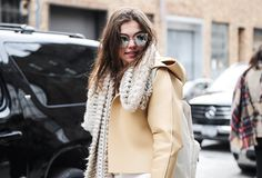 Pin for Later: Everyone Saved the Best Accessories For Last at MFW NYFW Day Five Kimberley Jenneskens wearing Quay sunglasses