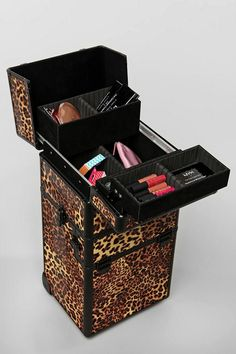 Four-tier makeup artist train case from NYX.