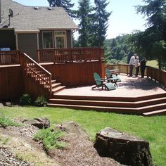 multilevel decks | Multi Level Deck Design Ideas, Pictures, Remodel, and Decor