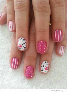 Short pink nails