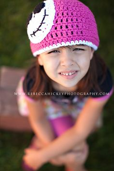 Little Miss Frilly crochet PINK SPOOKY hat by littlemissfrilly, $20.00