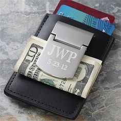 This zippo engraved money clip & credit card case would be a nice and special gift for him!