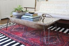 antique dough bowl turned table, home decor, painted furniture, repurposing upcycling
