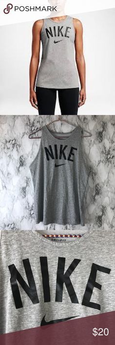 Nike workout top Size M  Great condition   I will be having a lot of new uploads of new clothes I recently just got!! So don't miss out!! Also don't forget to check out my account for super cute clothes in good condition from all types of brands! Pink, adidas,polo Ralph Lauren, the north face, Hollister, Nike, Tommy Hilfiger, and many more brands!! Shoot my offerS!!! I do bundles!!! Nike Tops Muscle Tees