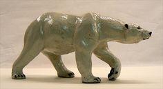 raku african wild dogs | mr wiggles - polar bear oil pastel