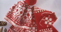 Tricot digne d'un vrai Norvégien Boho Shorts, Crochet, Knitted Hats, Knitting, Winter, Women, Fashion, Moda Femenina, Red And White