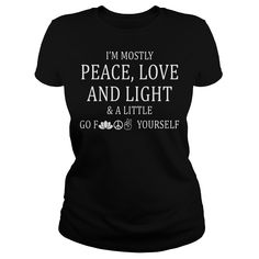 Peace Love Football Footy Aussie Funny Novelty T-Shirt Mens tee TShirt