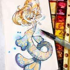 SillyJellie Art Farts - MerMay Pt 5 Prints available here:. Art And Illustration, Illustrations, Mermaid Drawings, Mermaid Art, Fantasy Kunst, Fantasy Art, Wicca, Art Sketches, Art Drawings