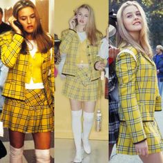 """Cher Horowitz's fashion in Clueless Costume designer Mona May said, """"When we started working on Clueless there was pretty much just… Blonde Halloween Costumes, Clueless Halloween Costume, 90s Costume, Halloween Outfits, Halloween Inspo, Halloween Cosplay, Halloween 2020, Cher Clueless Costume, Clueless Outfits"""