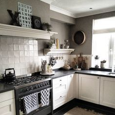 Likes, 27 Comments - Apartment Therapy ( tour this charming Dutch home filled with antiques and flea market finds. Kitchen Time, New Kitchen, Kitchen Dining, Kitchen Decor, Kitchen Cabinets, Kitchen Appliances, Ikea Kitchen Design, Kitchen Interior, Cottage Kitchens