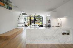 Diseño de cocina con muebles mármol