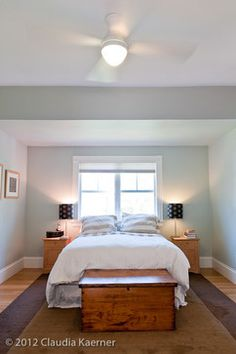 Bedroom Photos Dormers Design Ideas, Pictures, Remodel, and Decor - page 26 Love the wall color.