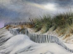 Shediac dunes oil painting by marc little