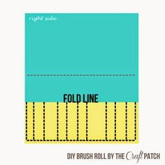 How To Sew A Brush Roll - thecraftpatchblog.com Sewing Tutorials, Sewing Projects, Sewing Patterns, Sewing Ideas, Paint Brush Holders, Makeup Brush Holders, Diy Makeup Storage, How To Make Paint, Diy Crafts For Gifts