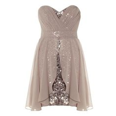 sheer and sequin strapless sweetheart mini dress<3 too cute!