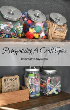 'Reorganizing My Creative Space {VRAI Magazine Post}...!' (via mycreativedays)