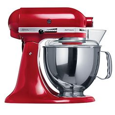 With all the accessories! including the ice cream mixer, the clear glass bowl, the dough hooks, the mincer! Everything!   Buy KitchenAid Artisan Stand Mixer Online at johnlewis.com