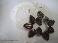 """I added """"Scarlet Red Pressed Picasso Leaf Czech Glass"""" to an #inlinkz linkup!https://www.etsy.com/listing/203491309/scarlet-red-pressed-picasso-leaf-czech?ref=shop_home_active_8"""