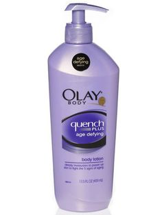 Best Body Lotion: Honorable Mention    Olay Body Quench Plus Age Defying Body Lotion ($7.77, amazon.com or drugstores)