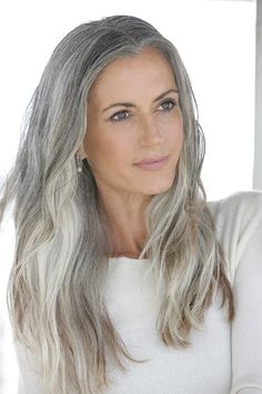 Long Grey Hairstyles Cool Mature …  Long Hai…