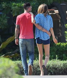 Adam Levine and fiance Behati Prinsloo