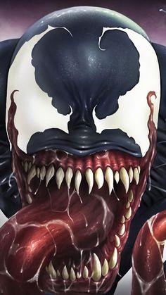 Venom Attack, HD Superheroes Wallpapers Photos and Pictures ID Venom Comics, Marvel Venom, Marvel Villains, Marvel Characters, Venom Tattoo, 1440x2560 Wallpaper, Superhero Images, Venom Art, Ghost Rider Marvel